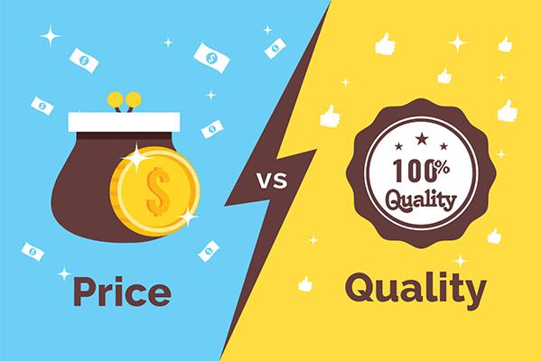 Prix vs qualité