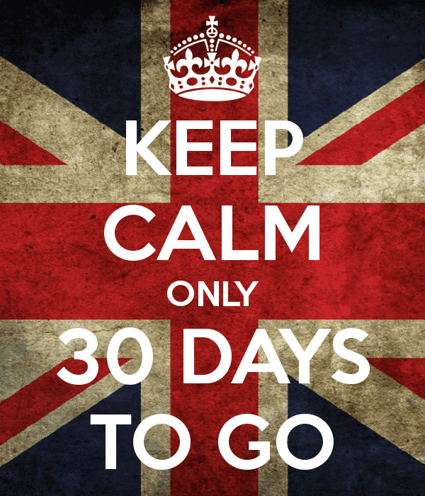 keep calm only 30 days to go 3