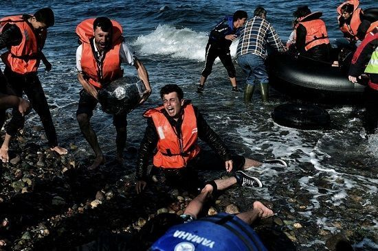 Refugees on their dangerous journey to europe